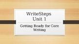 WriteSteps Writing-Unit 1 - Grade 5