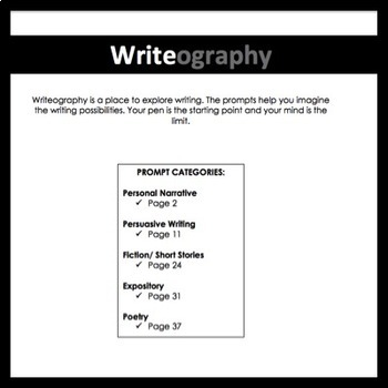 Writeography Writing Prompts