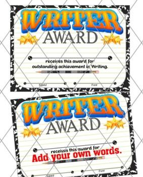 Writer Certificate 2