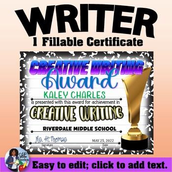 Writer Certificate 4
