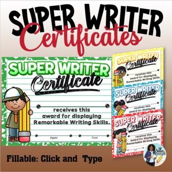 Writer Certificates