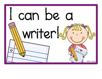 """Writer """"I Can"""" Posters"""