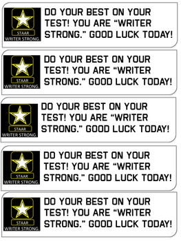 Writer STRONG Testing Notes Freebie