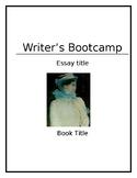 Writer's Bootcamp