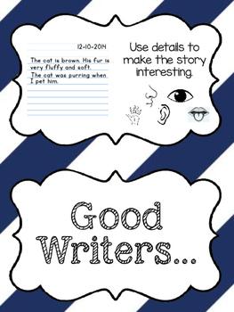 Writer's Checklist Anchor Chart