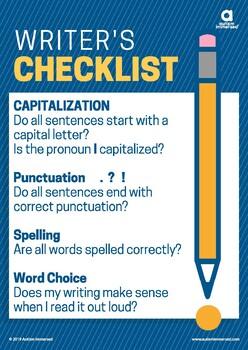 Writer's Checklist Poster