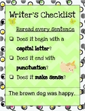 Writer's Checklist Posters