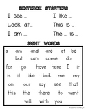 Writer's Checklist, Sentence Starters, Sight Words Anchor Chart Reference