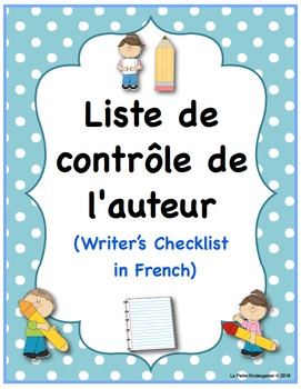 Writer's Checklist in French