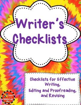 Writer's Checklists