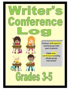 Writer's Conference Log Grades 3-5