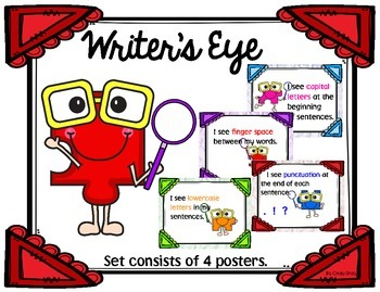 Writer's Eye Posters and Chart