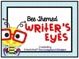 Writer's Eyes Bee Themed Posters Set 2 with blue polka dot