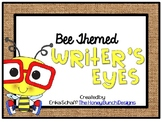 Writer's Eyes Bee Themed Posters Set 3 with burlap