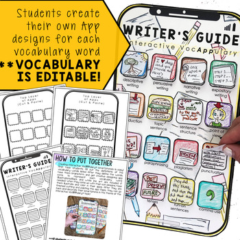 Writer's Guide Interactive VocAPPulary™ - Writing Vocabulary Activity