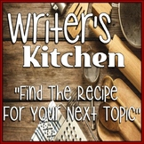 Writer's Kitchen Event (like Book Tasting Activity for writing)