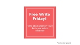 Writer's Notebook Activities - Free Write Friday : Buildin