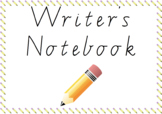 Writer's Notebook Cover