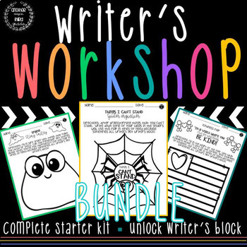 Writer's Notebook Ideas and Organization BUNDLE