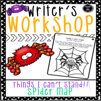 Writer's Notebook Ideas and Organization SPIDERS!