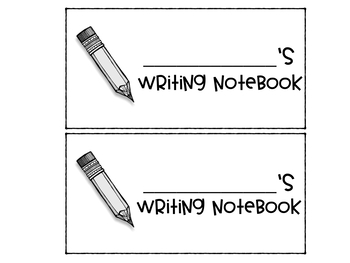 Writer's Notebook Labels