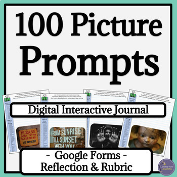 Writer's Notebook Paperless Writing Prompts for Google Drive