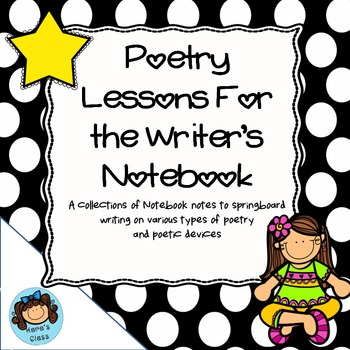 Writer's Notebook- Poetry Notes and Lessons