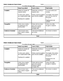 Writer's Notebook Rubric