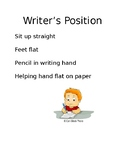 Writer's Position Poster