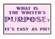 Writer's Purpose Display