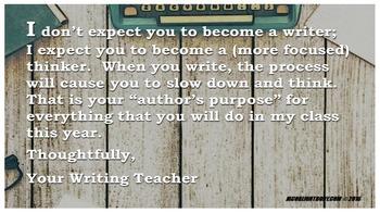 Writer's Purpose Poster (Download)
