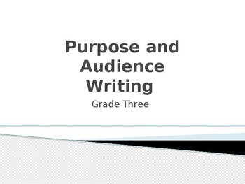 Writer's Purpose and Audience