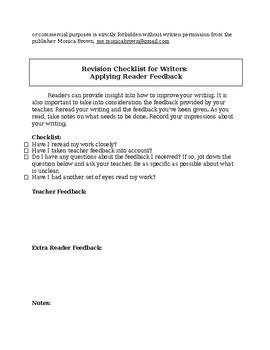 Writer's Revision Checklist