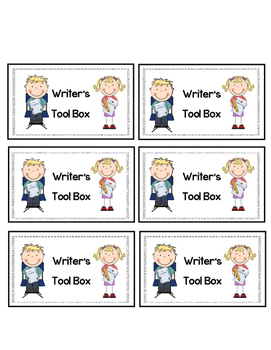 Writer's Tool Box Label