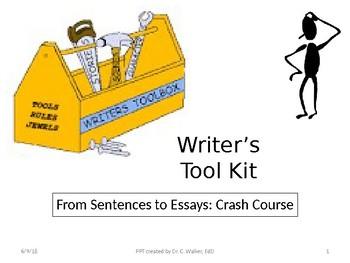 Writer's Toolkit- A Crash Course