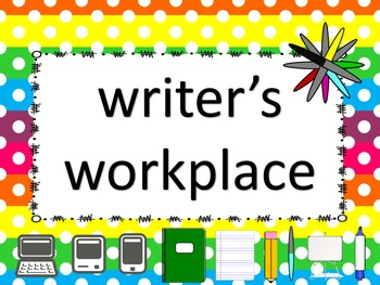 Writer's Workplace (NO PREP) Writing Center Posters and Papers