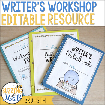 Writer's Workshop for 3rd - 5th grade - Editable