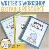 Writer's Workshop Toolkit for 3rd - 5th grade - Editable