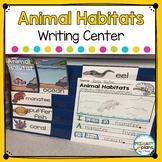 Animal Habitats Writing Worksheets