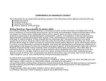 Writer's Workshop Balanced Literacy 1st Grade YL Unit