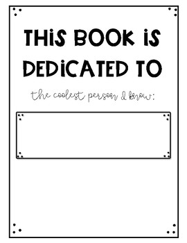 Writer's Workshop Book Template