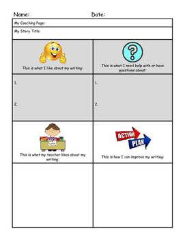 Writer's Workshop Coaching Tool Graphic Organizer
