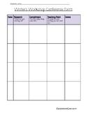 Writer's Workshop Conference Form