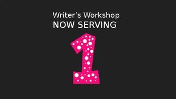 Writer's Workshop Counter