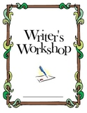 Writer's Workshop Cover Sheet for Binders, Booklets, or Spirals