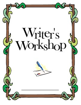 Writer's Workshop Cover Sheet for Binders, Booklets, or Spirals