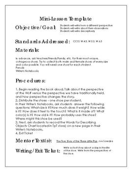 Writer's Workshop Description Mini-Lesson