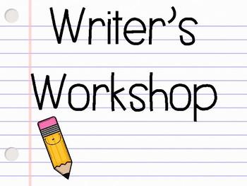 Writer's Workshop Display Posters