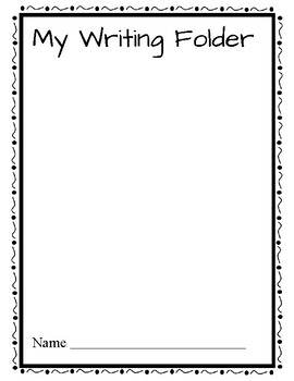 Writer's Workshop Folder Cover Sheet