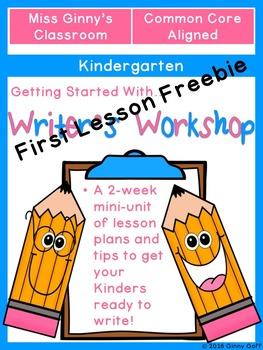 Getting Started with Kindergarten Writer's Workshop (Freebie)